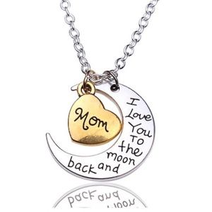 Jewelry - Mom Heart and Moon Necklace
